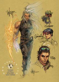 Cyberforce/Hunter-Killer sketches