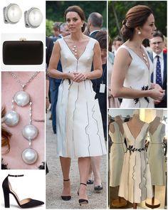 "10 mil curtidas, 143 comentários - Catherine Duchess Of Cambridge (@katemidleton) no Instagram: ""The Duchess wore a monochrome dress by Polish designer Gosia Baczyńska, a go-to designer for many…"""