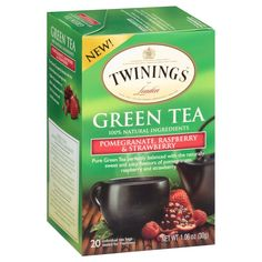 Twinings Green Pomegranate Raspberry And Strawberry Bagged Tea 80 Count