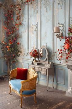 Dream Home Design, House Design, Bedroom Decor, Wall Decor, Interior Decorating, Interior Design, Luxury Interior, Vintage Room, Classic Interior