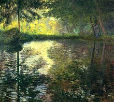 Claude Monet. The Pond at Montgeron (1876).