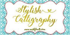 Stylish Calligraphy | dafont.com