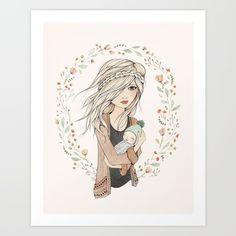 Mother's Love Art Print by Kelli Murray - $18.00