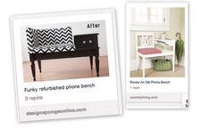 pinterest furniture redo  | The Pinterest Project: Gossip Bench Redo
