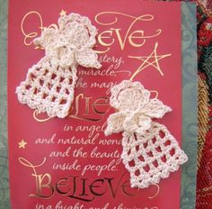 BellaCrochet: Tiny Christmas Angel, a free crochet pattern for you