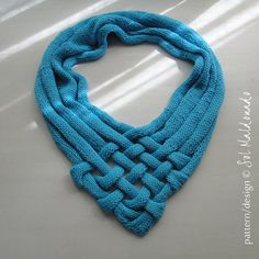 Wrap Knitting Pattern Weave summer cowl cape INSTANT por bySol