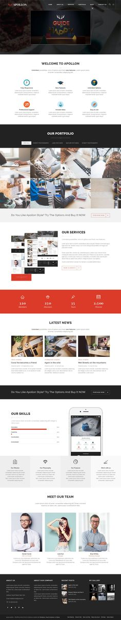 Apollon Creative Multiuse #WordPress Theme is creatively designed for business website needs. #Agency #Office #webdesign