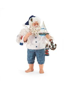 Tropical Christmas, Beach Christmas, All Things Christmas, Christmas Trees, Santa Figurines, Collectible Figurines, Santa Doll, How To Make Toys, Lighted Canvas