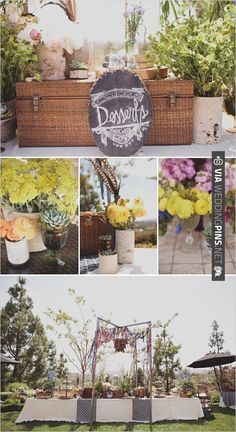 dessert table with custom chalkboard sign  photo by | CHECK OUT MORE IDEAS AT WEDDINGPINS.NET | #weddingcakes