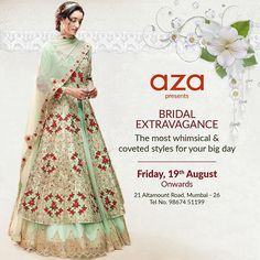 Are you a bride-to-be on the lookout for your dreamy wedding outfit? Head to Aza Altamount to find your perfect match! #exclusive #newcollections #bridal #wedding #trousseau #mehendi #sangeet #weddingreception #indianbrides #indianfashion #azabride #azadesigners #azafashion #azaaltamount