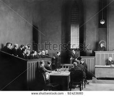People in a courtroom - stock photo