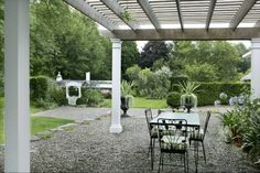 guests can enjoy breakfast on our terrace overlooking the garden