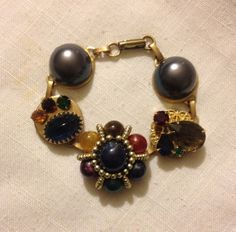Bracelet from Upcycled Vintage Earrings by heartsoftoday on Etsy, $35.00