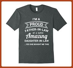 Mens Funny Proud Father in Law Shirt Dad Fathers Day Gift Ideas Medium Dark Heather - Holiday and seasonal shirts (*Partner-Link)