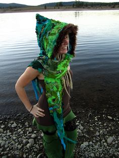 Pixie Hood Elf Hoodie Full Interstellar Scoodie Hoodie Festival Clothing. $168.00, via Etsy.