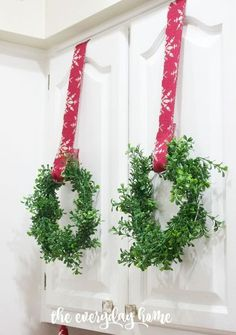 DIY mini faux boxwood wreaths for only $4 each