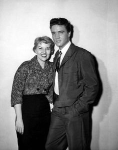 """Patti Page (who was married to musical stager Charles O'Curran) and Elvis. Date 6th February 1958. Paramount Studios...during filming of """"King Creole."""""""