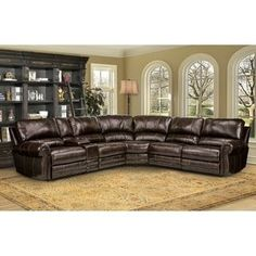Shop for Hartford Brown Top Grain Leather Power Reclining Sectional Sofa. Get free delivery at Overstock.com - Your Online Furniture Shop! Get 5% in rewards with Club O! - 22292549