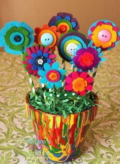 Regalos y manualidades dia de la madre Flores (29)