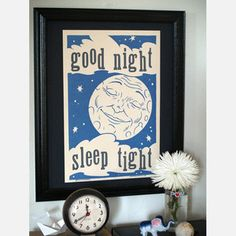 Good Night Print 12x18 now featured on Fab.