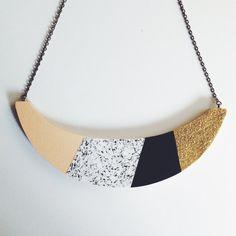 Erklärung Halskette  'Party'  Glitter Marine Rosa von lucie0ellen