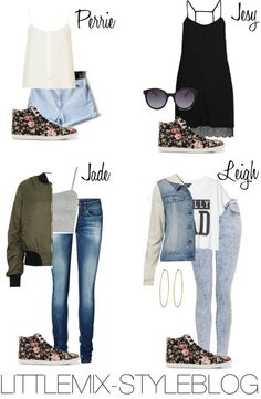 Little Mix Styles Little Mix Outfits, Little Mix Style, Style Me, Style Hair, Fashion Outfits, Womens Fashion, Blue Jeans, High Tops, Bomber Jacket