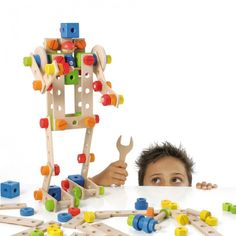 Sevi Construction Toy - LOVE these for building and expanding fine motor techniques.