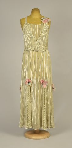Evening dress, silk with beads and glass, French, 1931