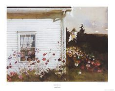 Andrew Wyeth- Around the Corner. This hangs in my bedroom