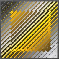 by Victor Vasarely Victor Vasarely, Op Art, Josef Albers, Yellow Art, Illusion Art, French Artists, Geometric Designs, Famous Artists, Optical Illusions