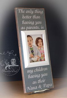 Grandparents Gift Personalized Picture by TheFreckledOwlFrames, $59.95