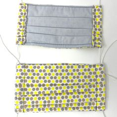 Use promo code PYPMASK4(4for $20) at checkout. One sewn face mask made from cotton fabric and interfacing, ready for use. Priced below materials plus labour cost. Assembledmasks should be laundered either by hand or in a garment bag to preserve the elastic. ***THESE MASKS ARE NOT RATED OR TESTED FOR PERFORMANCE, BUT Lining Fabric, Cotton Fabric, Mask Shop, Mask Making, Polka Dots, Labour Cost, Yellow, Face, Preserve