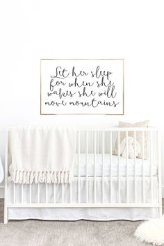 YOU PRINT PRINTABLE Wall Art - 24x36 Jpeg - Let Her Sleep For When She Wakes She Will Move Mountains, Home Decor, Nursery Decor