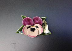 Grafdecoratie boeketje met viool zacht lila
