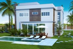 205 – Projetos de casas – fachada fundos