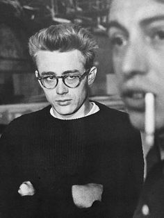 jamesdeaner: James Dean (and Dennis Stock) photographed by Phil Stern, 1955.
