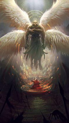 Garuda, Alejandro Giraldo Vargas (Alejdark) on ArtStation at https://www.artstation.com/artwork/5ebGw