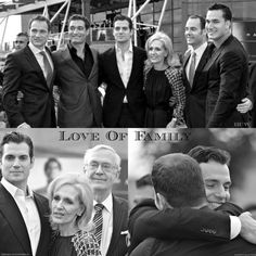 Henry Cavill and Family at MOS Jersey Premier…Charlie, Piers, Nick, Simon and Henry with Mum and Dad. Great looking family!