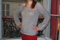 Un pull tout moelleux !  Patron par ici : http://carofoliz.com/2013/11/30/pull-moelleux-et-tres-facile-en-phil-light/