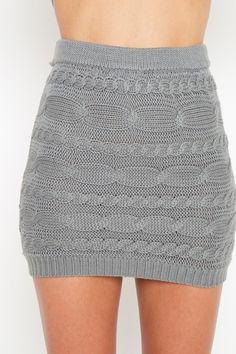 Cable Knit Skirt. WANT MUCH!