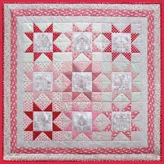 Little Patchwork Village Wall Quilt, Under The Mulberry Tree