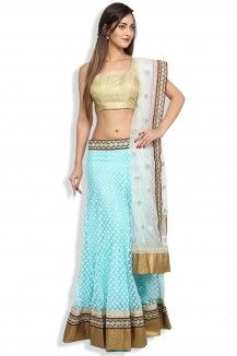Mint Colored Embroidered Lehenga  Rs. 12,000
