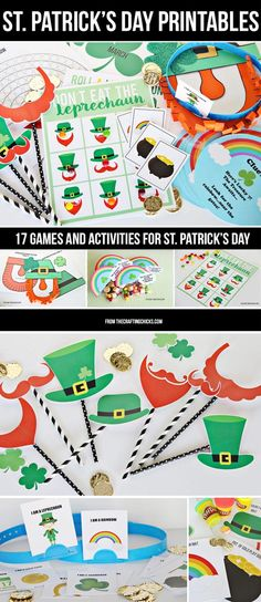 Printable games and activities for St Patrick's Day via @craftingchicks