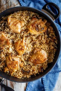 One Pot Mushroom Chicken and Rice Recipe