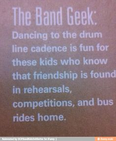 Love the drum line cadence..even if it's the only thing the band is doing when marching down the street....