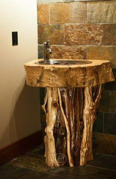 One of a kind sink Custom Home Builders, Custom Homes, Sink, Diy Crafts, Table, Furniture, Home Decor, Homemade Home Decor, Vessel Sink