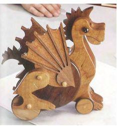 Ah! E se falando em madeira...: Dragão articulado