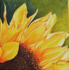 Sunflower Paintings | original acrylic art gallery - commission an original acrylic painting