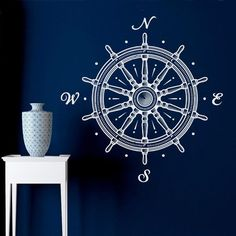 Nautical Wheel Compasses Wall Sticker – Next-Millennium