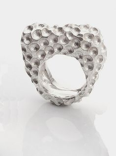 Honeycomb Ring: Ashley Vick: Silver Ring | Artful Home